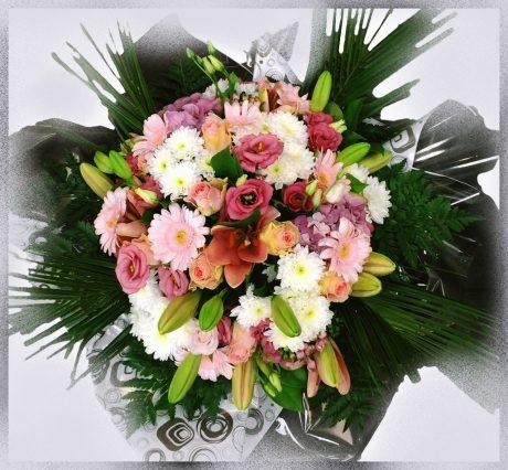 Bouquet deuil rose