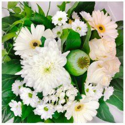 Bouquet rond blanc Autant de Fleurs Aubagne